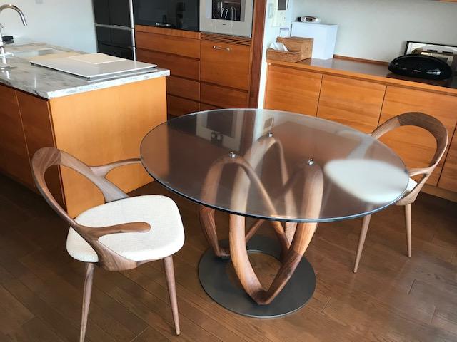 K様 / インフィニティダイニングテーブル エスターアームチェア